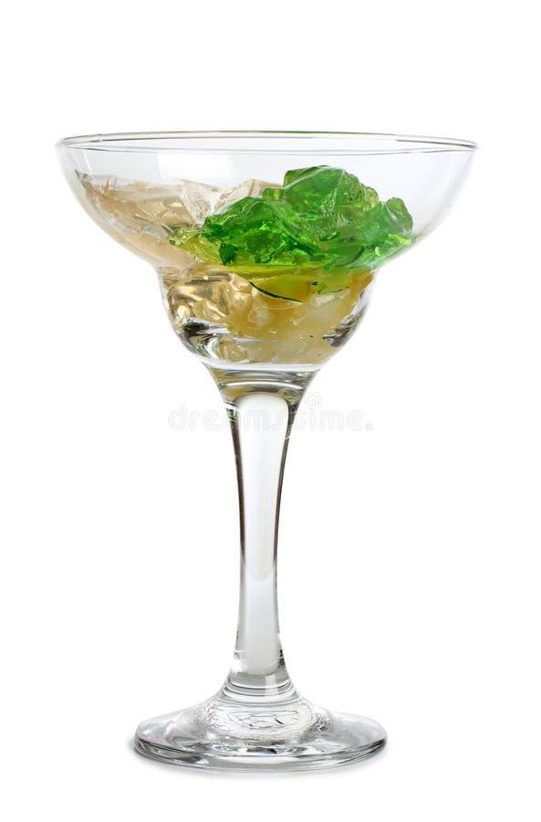 Vidro de cocktail oito foto de stock
