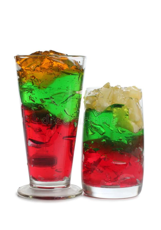 Vidro de cocktail sete imagens de stock