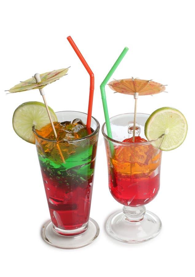 Vidro de cocktail três imagens de stock