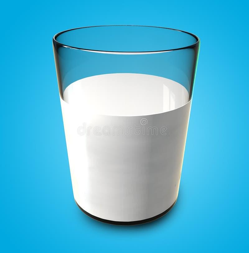 Vidro de leite ilustração do vetor
