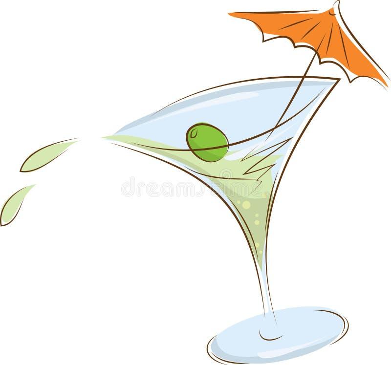 Vidro de martini ilustração stock