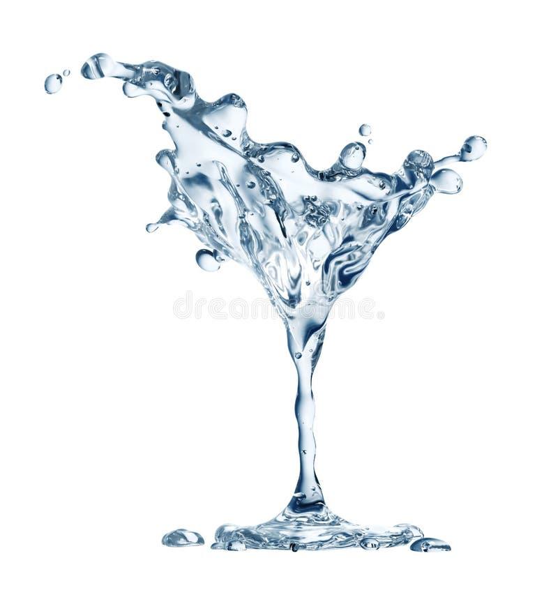 Vidro de Martini com gotas da água ilustração royalty free