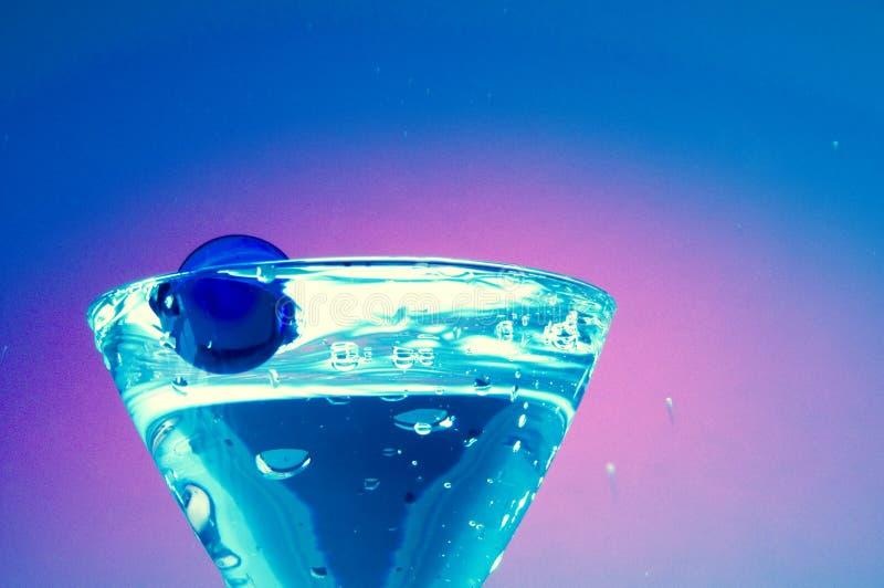 Vidro de martini do cocktail fotografia de stock