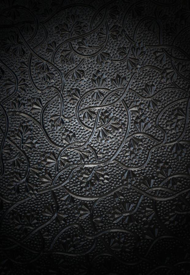 Vidro de teste padrão floral imagens de stock royalty free