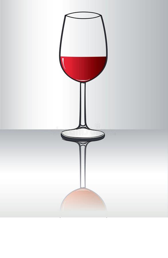 Vidro de vinho ilustração do vetor
