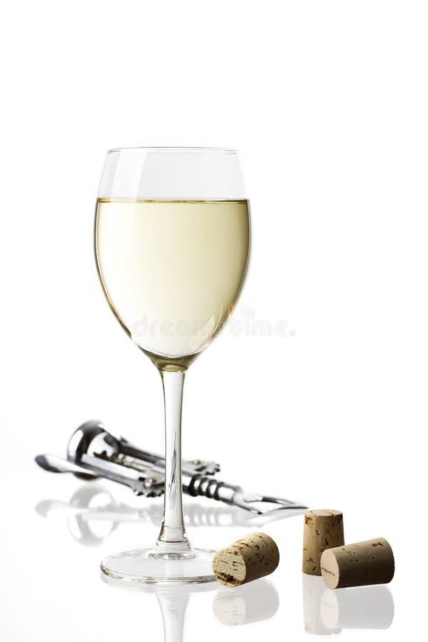 Vidro de vinho branco imagens de stock