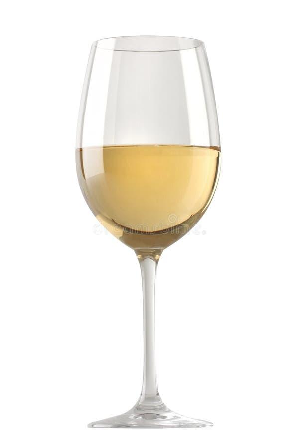 Vidro de vinho branco isolado fotos de stock royalty free