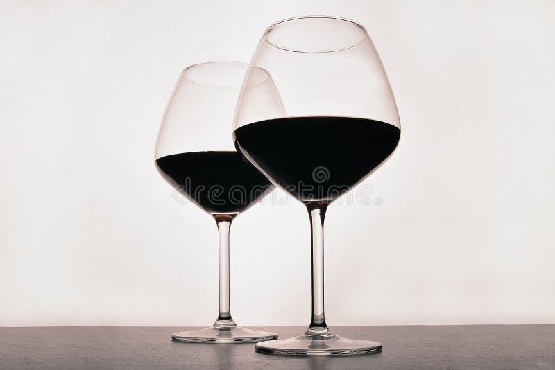 Vidro de vinho da bebida fotos de stock royalty free