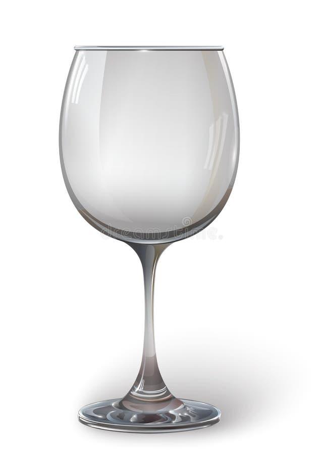 Vidro de vinho de vidro Um realístico, transparente, vazio, vetor ilustração do vetor