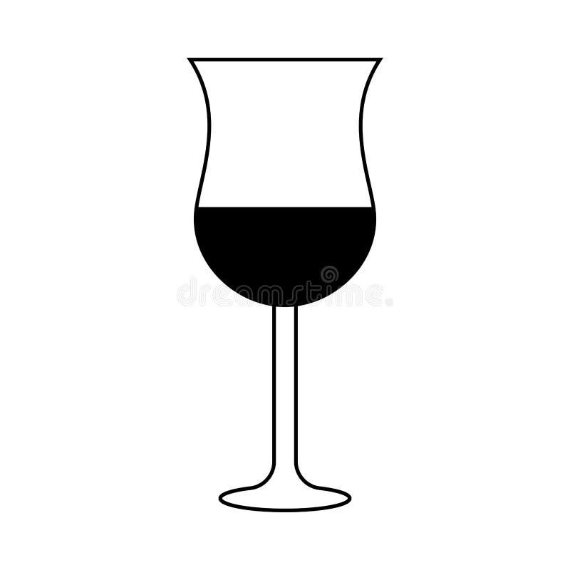Vidro de vinho isolado ilustração do vetor