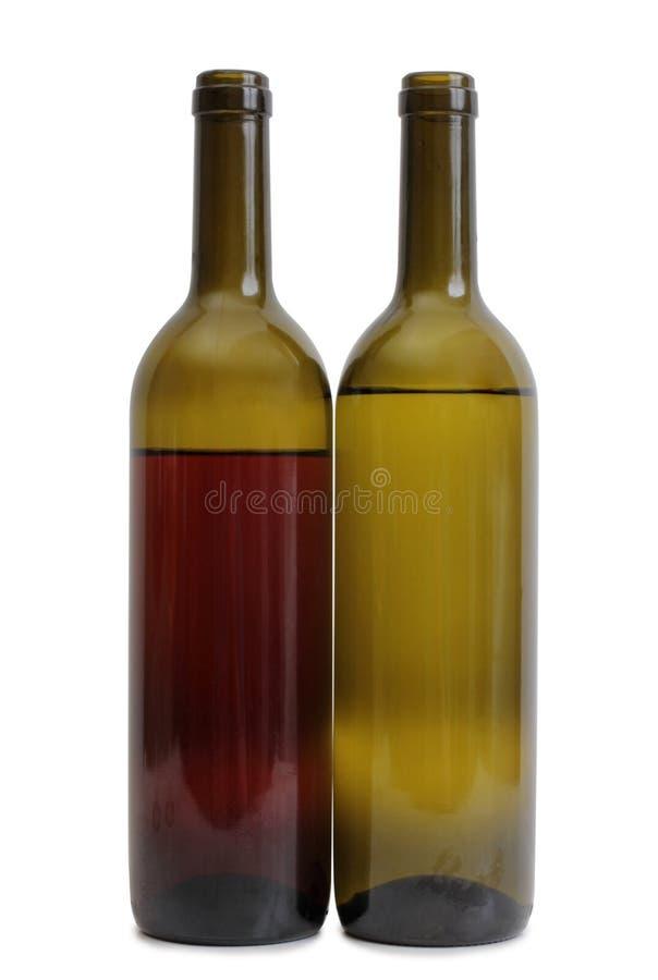 Vidro de vinho no branco dois fotos de stock
