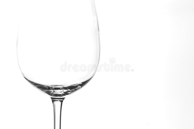 Vidro de vinho sobre fotografia de stock