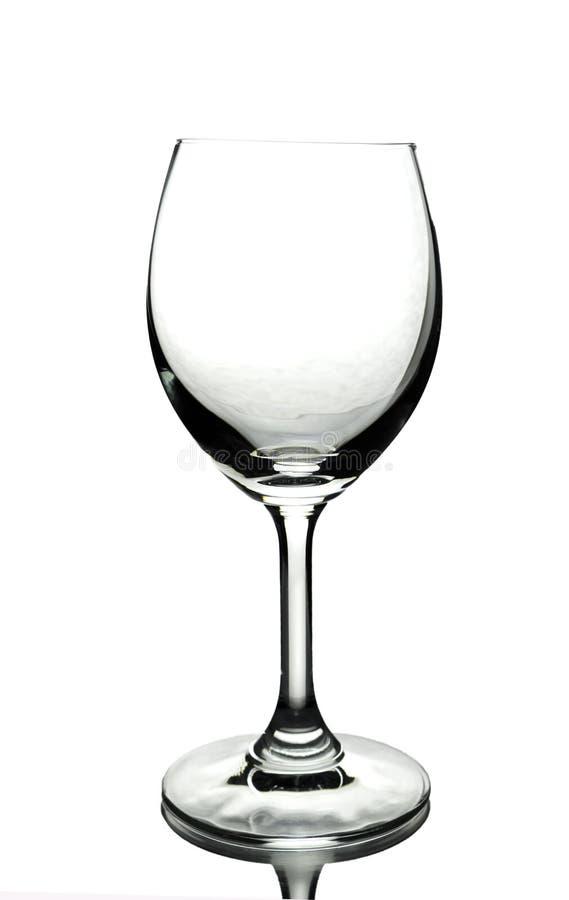 Vidro de vinho vazio fotografia de stock royalty free