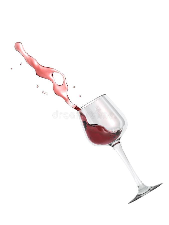 Vidro de vinho vermelho ilustração stock