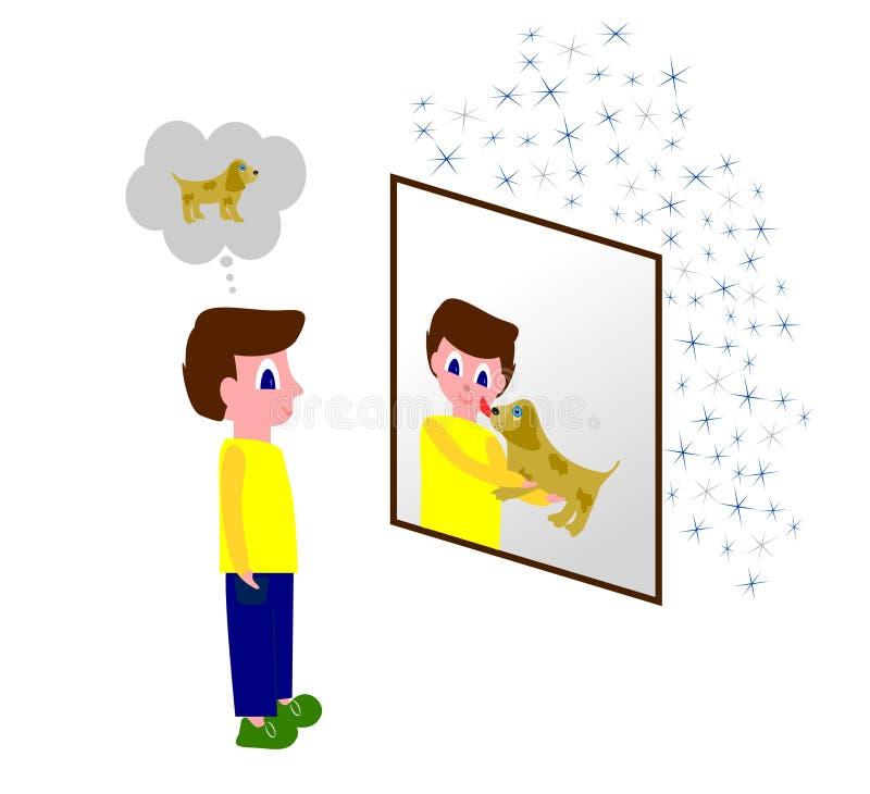 Vidro de vista dos desejos ilustração royalty free