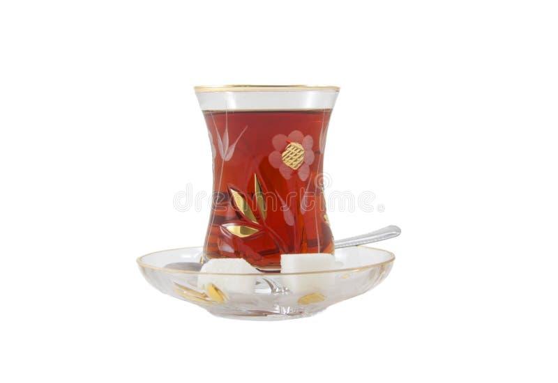 Vidro do chá turco tradicional foto de stock