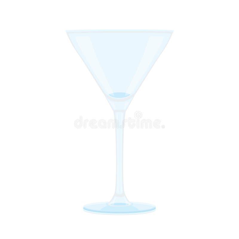Vidro do champanhe e do vidro claro ilustração stock