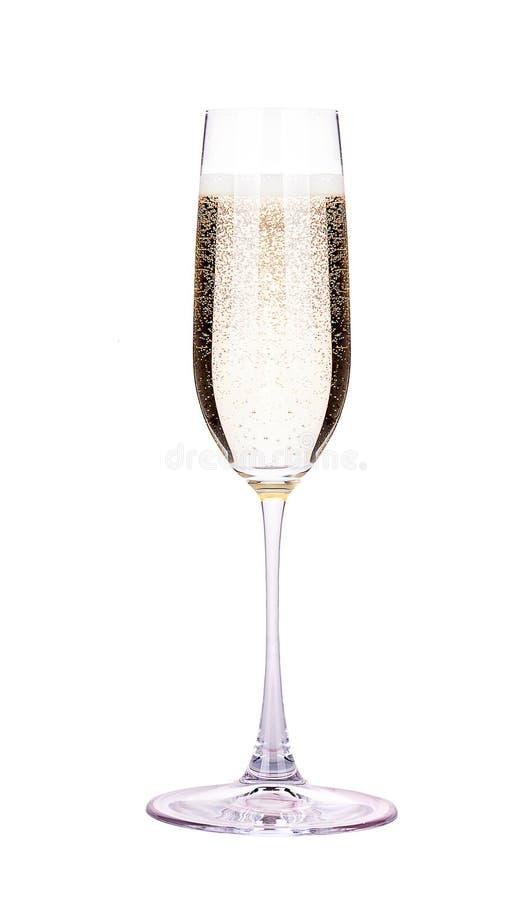 Vidro do champanhe isolado fotografia de stock