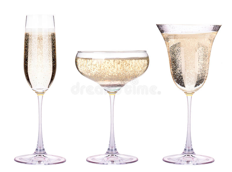 Vidro do champanhe isolado foto de stock royalty free