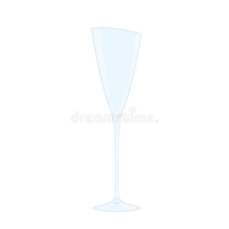 Vidro do champanhe no fundo branco ilustração do vetor