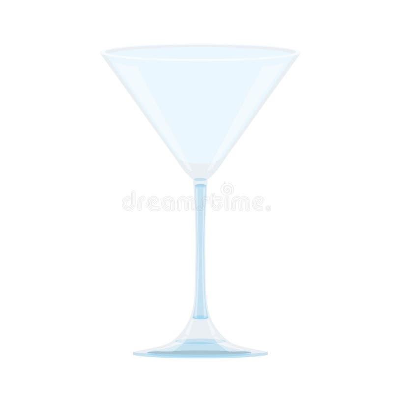 Vidro do champanhe no fundo branco ilustração royalty free