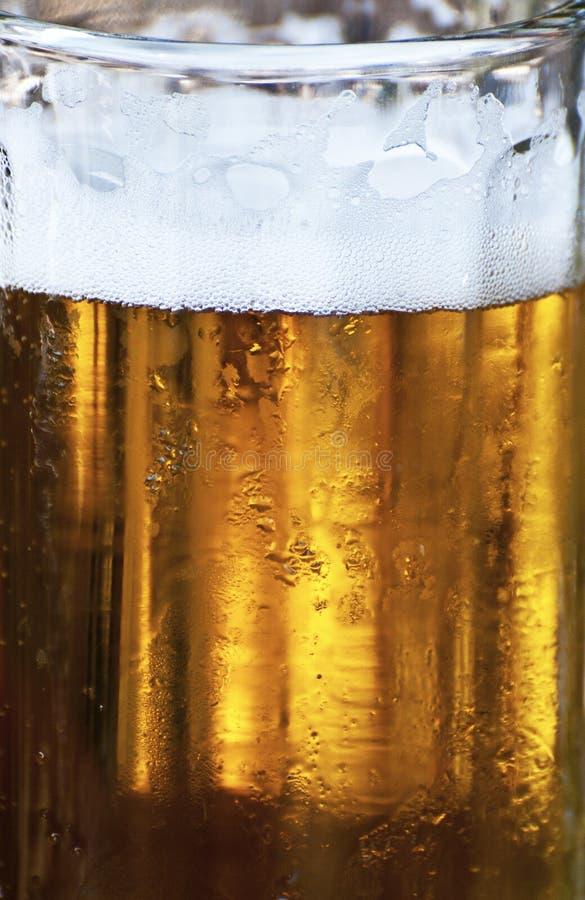 Vidro do close-up da cerveja imagens de stock