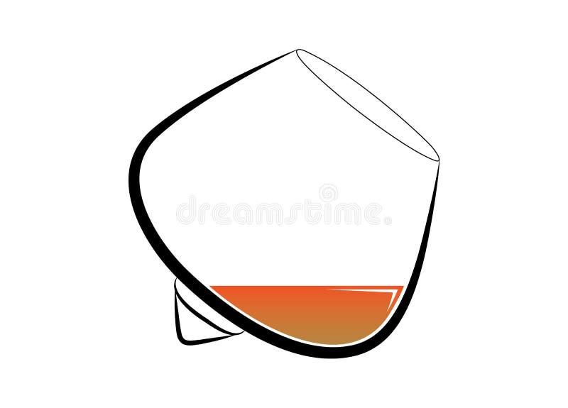 Vidro do conhaque - Normann Copenhagen fotografia de stock royalty free