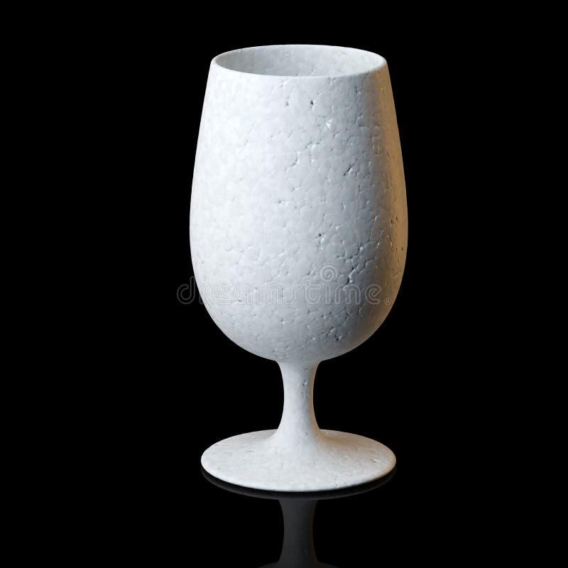 Vidro do conhaque ou de vinho no fundo preto ilustração royalty free