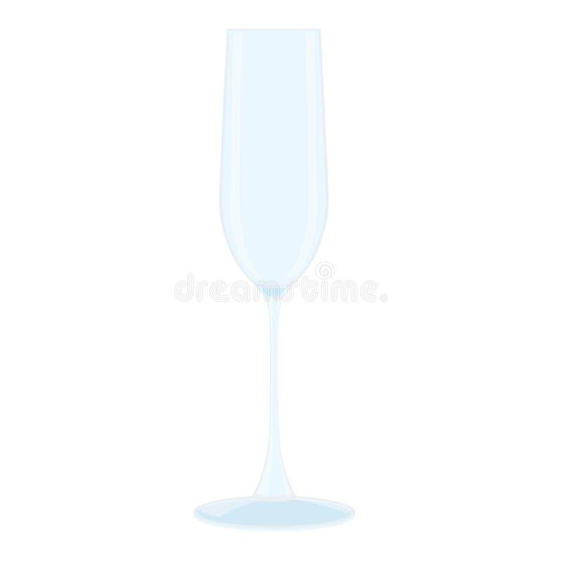 Vidro do vidro do espaço livre do champanhe ilustração do vetor