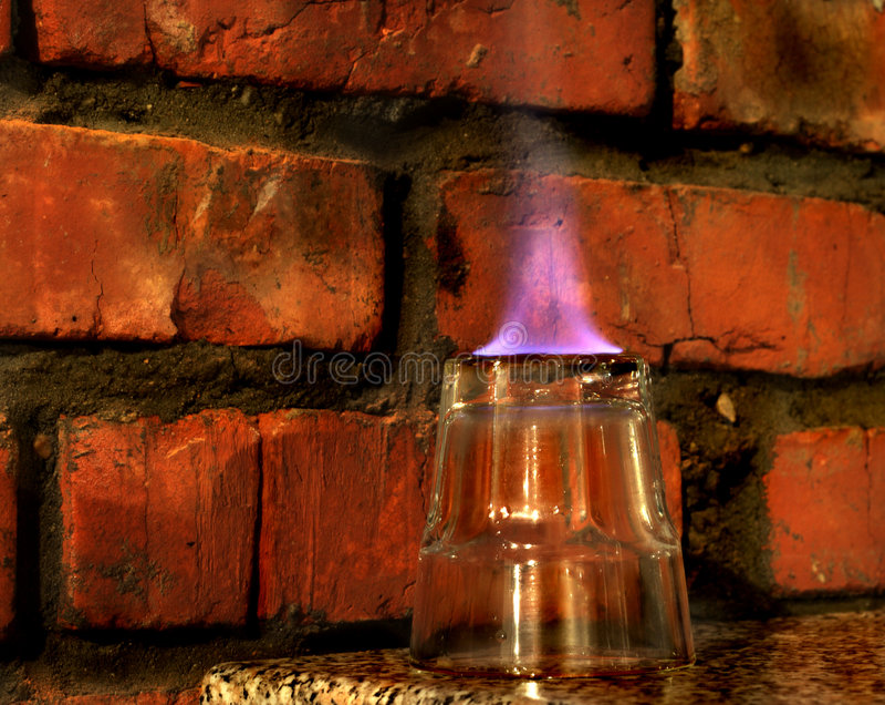 Vidro do incêndio foto de stock royalty free