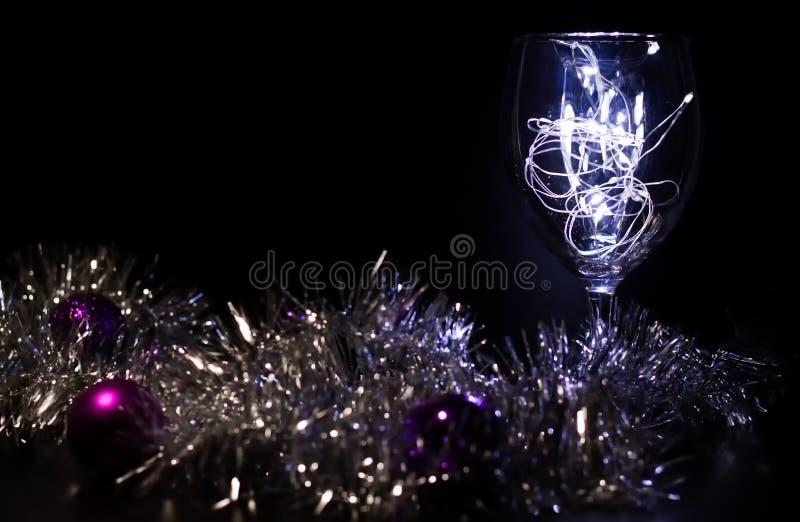 Vidro do Natal imagens de stock