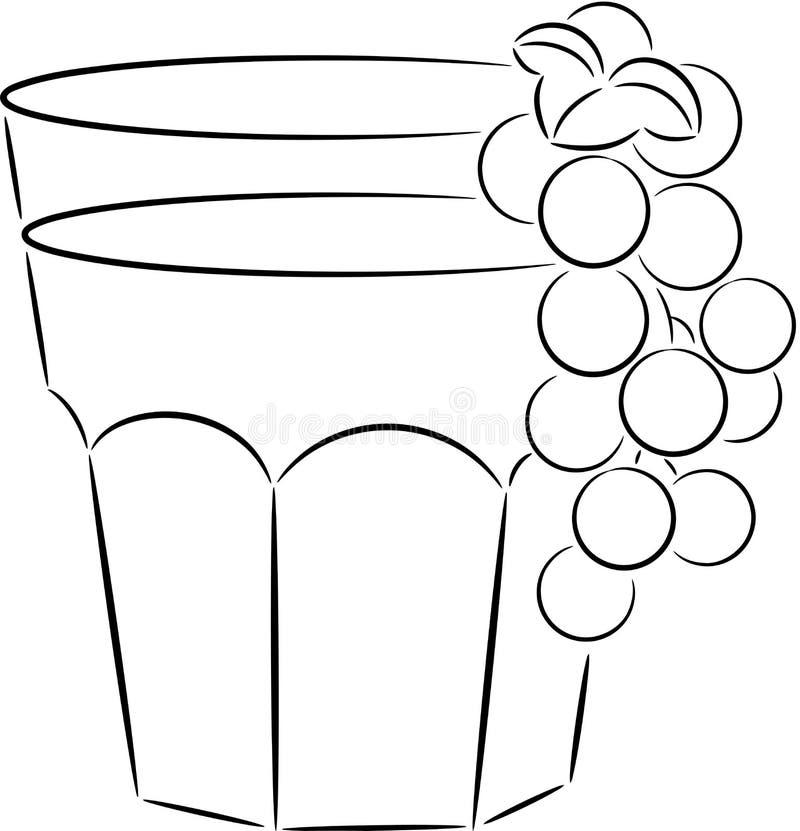 Vidro do suco ilustração royalty free