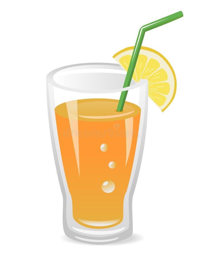 Vidro do suco de fruta ilustração do vetor