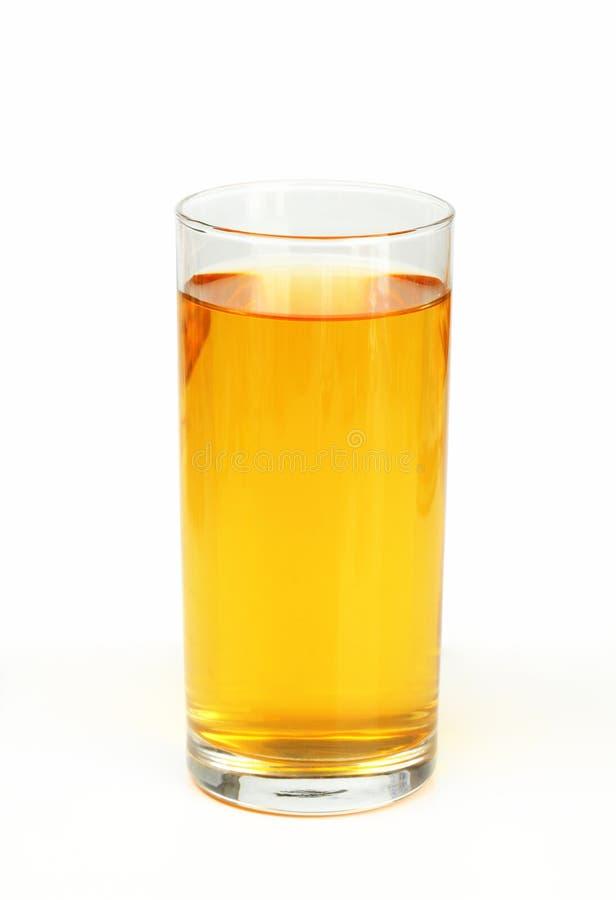 Vidro do suco de maçã foto de stock