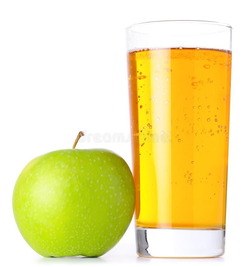 Vidro do sumo de maçã imagens de stock