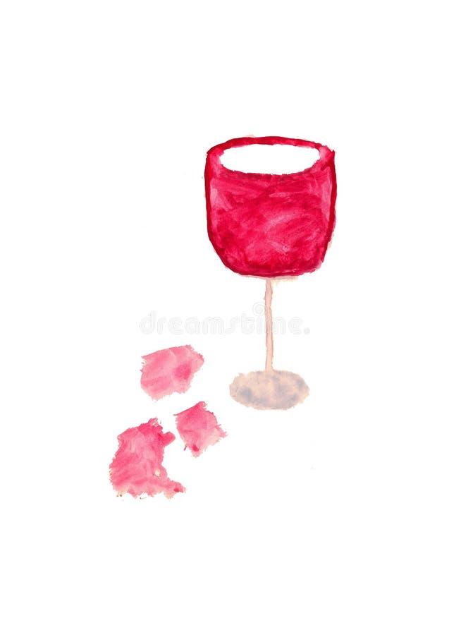 Vidro do vinho ilustração stock