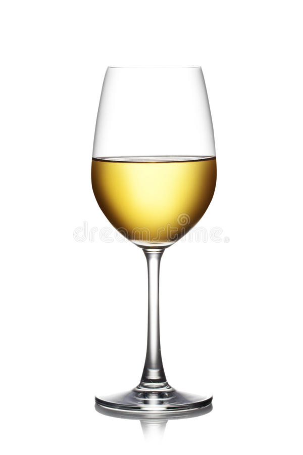 Vidro do vinho branco imagens de stock