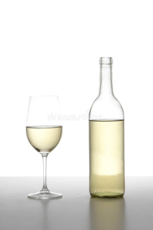 Vidro do vinho branco foto de stock