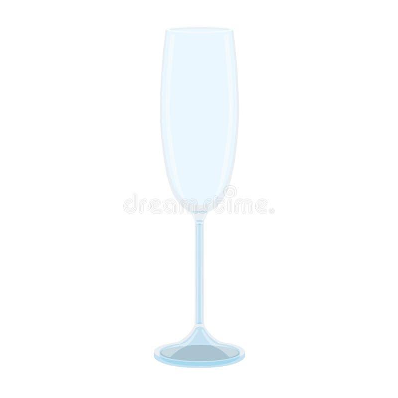 Vidro do vinho dos espírito da cerveja do cristal do champanhe ilustração royalty free