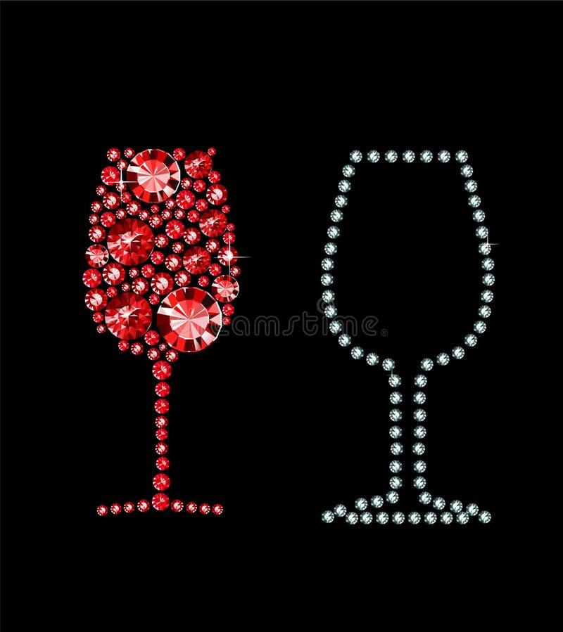 Vidro do vinho tinto ilustração royalty free