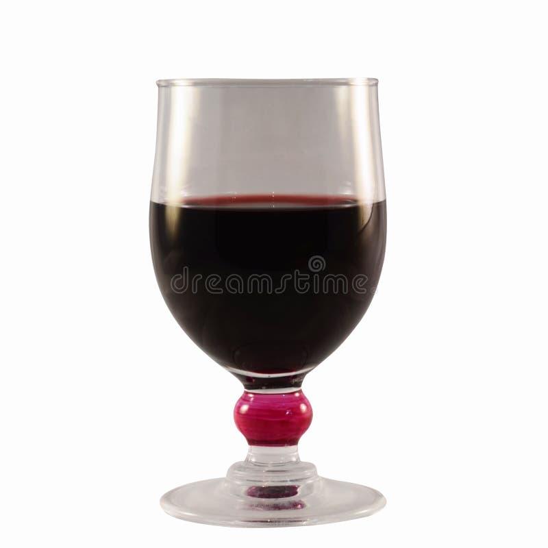Vidro do vinho tinto isolado no fundo branco imagem de stock royalty free