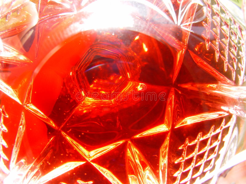 Vidro Do Vinho Vermelho Fotografia de Stock