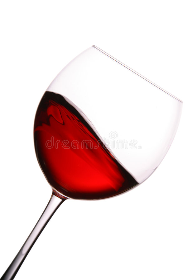 Vidro do vinho vermelho com onda fotografia de stock