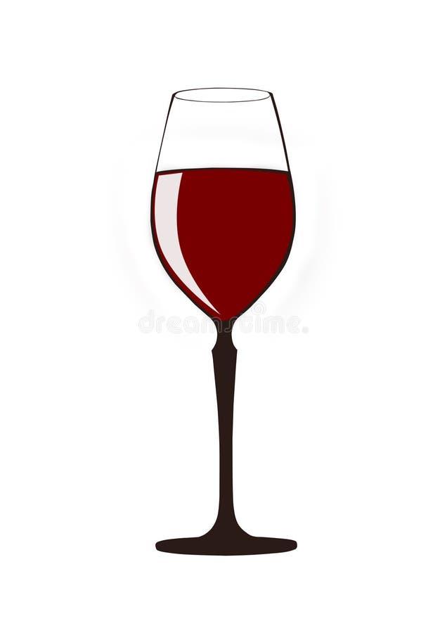 Vidro do vinho vermelho no fundo branco ilustração royalty free