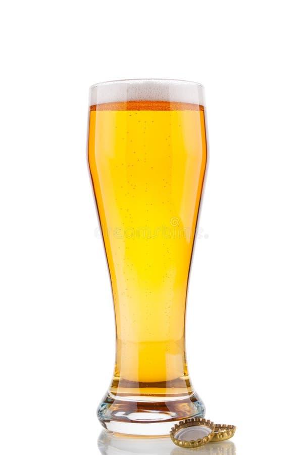 Vidro e cortiça de cerveja imagens de stock