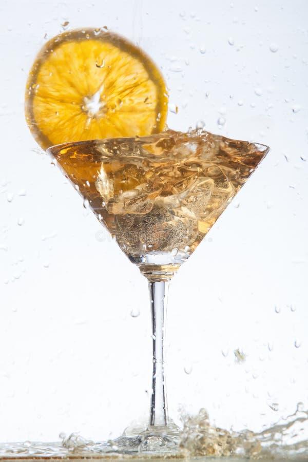 Vidro e fruto imagem de stock