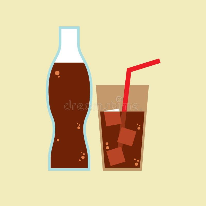 Vidro e garrafa da cola ilustração royalty free