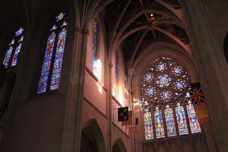 Vidro manchado da catedral da benevolência fotografia de stock