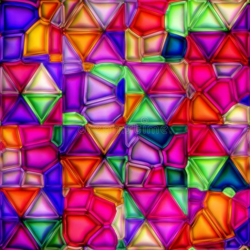 Vidro manchado Multicolour ilustração royalty free