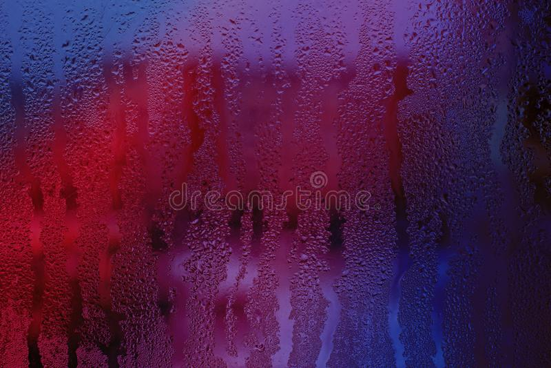 Vidro misted cor-de-rosa fotografia de stock